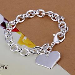 hjerte shpae 925 sølv armbånd (1 stk)