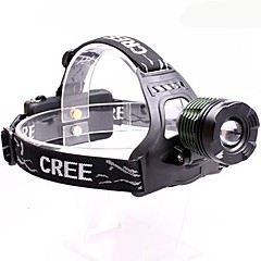 OSA12 Rechargeable  3-Mode 1x Cree XML-T6  Zoom  LED Flashlight HeadLamp (2000LM, 2x18650, Black)