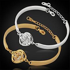 Dame Kæde & Lænkearmbånd Zirkonium Kvadratisk Zirconium Platin Belagt Guldbelagt Uendelighed Sølv Gylden Smykker ForBryllup Fest Daglig