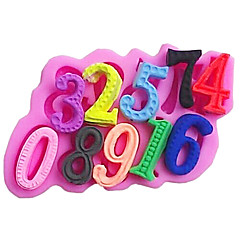 Numbers Baking Fondant Cake Choclate Candy Mold,L14cm*W9.7cm*H1.6cm