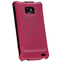 littch mönster äkta läder flip case för Samsung Galaxy S2 i9100 (blandade färger)