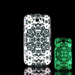 aztec mønster glød i mørke hårdt etui til Samsung Galaxy S3 i9300