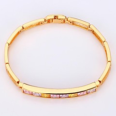U7® Girls Jewelry Chain Bracelet Bangle AAA+ Cubic Zircon 18K Gold Plated Bangle