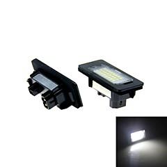 2x bílá bez chyb vedl SPZ světlo E82 E88 E90 E91 E92 E93 e90n m3 e46 CSL e60 e60n E61 E61 E70 E71
