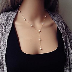 Necklace Chain Necklaces Jewelry Alloy Party Gold 1pc Gift