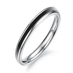 Fashion Women's Black Titanium Steel Band Rings(1 Pc)