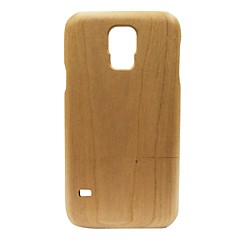 Kyuet Wooden Case Natural Handcrafted Cherry Wood Shell Cover Skin Cell Phone Case for Samsung Galaxy S5