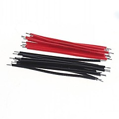 DIY 5cm Wire Cable Red+Black(40pcs)