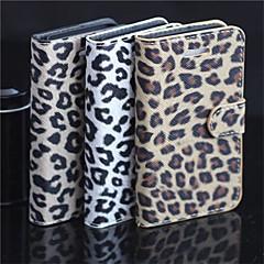 motif léopard pu pleine de boîtier de corps avec sangle avec la carte stent de portefeuille pour iphone 5 / 5s (couleurs assorties)
