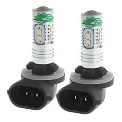 Zweihnder 881 10W 900lm 6000-6500K 10x2323 SMD White Light Bulb for Car Foglight (12-24V,2 Pieces)