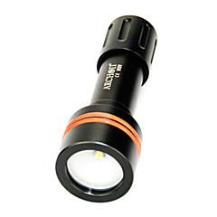 Taucherleuchten (Wasserdicht / Wiederaufladbar / Notwehr) - LED 3 Modus 860 Lumen 18650 Cree XM-L U2 Batterie -Tauchen / Bootsfahren /