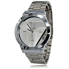 Men's Watch Fashion Transperant Triangular Dial Full Steel Atmosphere Dress Wrist Watch