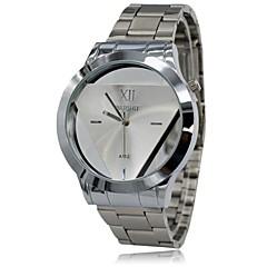 Bărbați Ceas Elegant Quartz Oțel inoxidabil Bandă Ceas de Mână Argint
