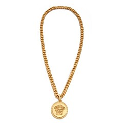 Fashion Medusa Pendant Golden Alloy Pendant Necklace(1 Pc)