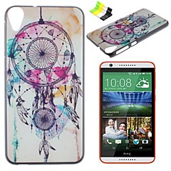 White Campanula Pattern PC Hard Case and Phone Holder for HTC Desire 820