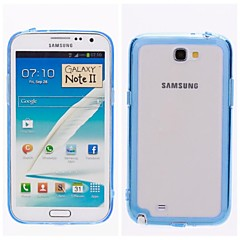 Transparent Inferior Smooth Silicone Mobile Phone Sets for Samsung  Galaxy Note 2 N7100
