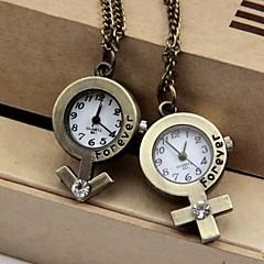שעון שרשרת קוורץ סגסוגת סגנון סמל מין של בני הזוג