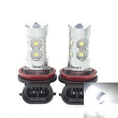 2x H11  PGJ192 50W 10xCREE Cold White 3100LM 6500K for Car Fog Light (AC/DC12V-24)