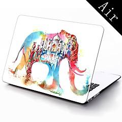 l'eau conception d'éléphant coloré complet du corps boîtier en plastique de protection pour 11 pouces / 13 pouces nouvelle Mac Book Air