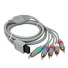 1.8m 5.904ft wii 30pin mannelijk naar 5RCA mannelijke hd video-audio-display kabel voor wii ondersteuning 1080p - grijs