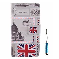 british Umschlag Muster PU-Leder Ganzkörper-Gehäuse mit Touch-Pen für Samsung-Galaxie a3 a3000