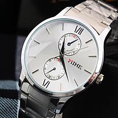 ρολόι χάλυβα γύρο γραμμή μπάντα χαλαζία μόδας των ανδρών (διάφορα χρώματα)