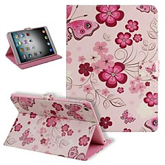 Fashion High Quality Fllowers and Butterfly PU Full Body Cases with Stand for iPad 2/3/4
