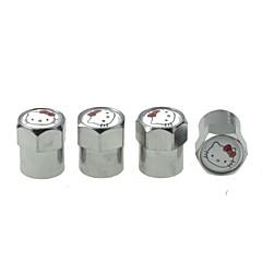 carro de luxo pneu katty cobre válvulas decoração cap (katty 4 peças por pacote)
