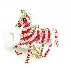 alta qualidade criativa zebra cristal metal keychain (cor aleatória)