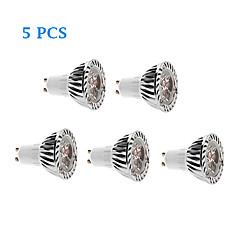 3W GU10 Lampadine LED a incandescenza 3 LED ad alta intesità 280 lm Bianco caldo / Luce fredda AC 220-240 V 5 pezzi