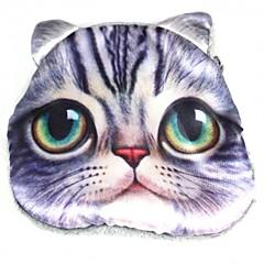 padrão lindo gato moeda mudança de pelúcia bolsa bolsa das mulheres