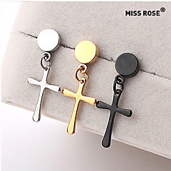 Miss ROSE®Men's Fashion Titanium Steel Cross Earrings(1pcs)