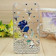 senhora do azul levantou-se com quadro de diamante para iphone 5 / 5s