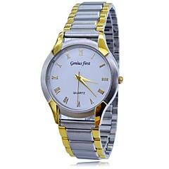 Herren-Stahlband 5m rostfreies wasserdichtes Quarz Analog Luxuxkleid Armbanduhren