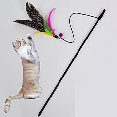 고양이 반려동물 장난감 티저 / 깃털 장난감 벨 블랙 직물