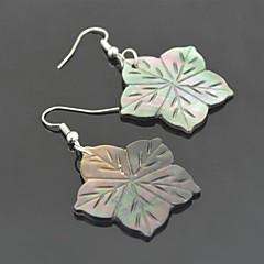 Toonykelly Vintage Look Natural Flower Shell Dangle Drop Earring(1Pair)