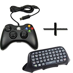 New USB Wired Game Pad Joypad Controller with keyboard Silicone case for MICROSOFT Xbox 360 Slim PC