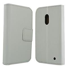 Varten Nokia kotelo Lomapkko / Korttikotelo / Tuella Etui Kokonaan peittävä Etui Yksivärinen Kova Tekonahka Nokia Nokia Lumia 620