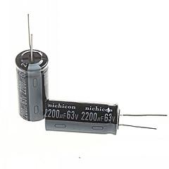 elektrolytisk kondensator 2200uf 63V (2st)