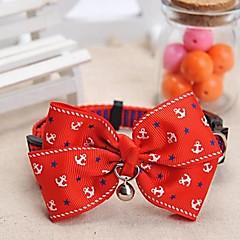 honden Kraag Verstelbaar/Uitschuifbaar / Bel Rood Nylon