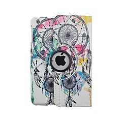 High Quality Painted Big Campanula Rotary PU Protect Holster with Stand for iPad mini 1/2/3