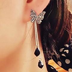 fuld diamant sommerfugl vedhæng kvast øreringe
