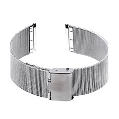 22mm Unisex Mesh Steel Watch Band Strap Bracelet Buckle Silver Fashion