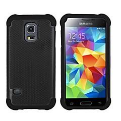 plástico balístico capa dura volta de silicone resistente caso de 4,5 polegadas para Mini Samsung Galaxy S5