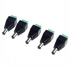 5,5 x 2,1 mm adaptador de enchufes de corriente continua cctv (paquete de 5)