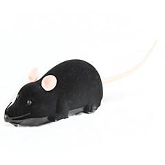 plástico eléctrico + juguete de peluche del ratón - negro