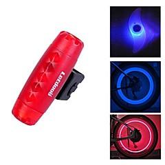 fjqxz bullet suunnittelu punainen vedenpitävä varoitusvalo takavalo ja 2 kpl sininen pyörä puhui valo with1 pari varoventtiili lampun sarja