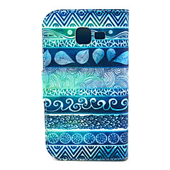 Fingerprint Flowers Pattern PU Leather with Case and Card Slot for Galaxy Trend Lite S7390/S7392