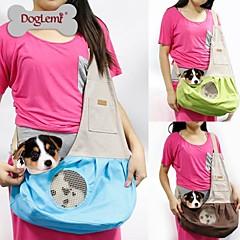 naturaleza lienzo perro solo hombro gato portador bolso de la honda de mascotas para mascotas perros