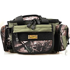Outdoor Waist Shoulder Fishing Bag Multifunctional Army Green Large Capacity Canvas Water resistant Lure Box Bag Tackle